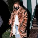 Jennifer Lopez – Wears animal print Coach coat with Timberland boots in Hollywood