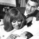 David Cameron and Hildegard Knefand Baby Christina - 300 x 400