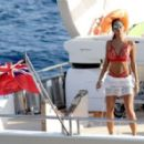 Nicole Scherzinger On Yacht In Mykonos 08/02/2016 - 454 x 278