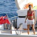 Nicole Scherzinger On Yacht In Mykonos 08/02/2016