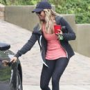 Ashley Tisdale: headed to the gym in West Hollywood
