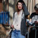 Milla Jovovich out in Barcelona - 454 x 705
