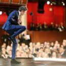 Eddie Redmayne- February 22, 2015-Behind the Scenes at the Oscars