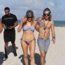 Ellie Goulding with boyfriend Dougie Poynter on Miami Beach January 5,2015