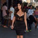 Demi Rose in Black Dress – Arriving at Tao restaurant in Los Angeles - 454 x 681