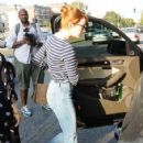 Actress Emma Stone is seen leaving the Meche Salon in West Hollywood, California on June 8, 2016