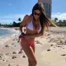 Claudia Romani in White and Pink Bikini in the Bahamas - 454 x 681