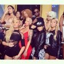 Blac Chyna, Amber Rose, Nikki Muddaris, Mally Mall, and Dj Khaled at Dream Nightclub in Miami, Florida - January 18, 2015