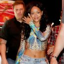 Rihanna Arrives At Her Hotel In Rio