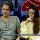 Aaron Tveit and Ericka Hunter at the US Open Nadal's match - 454 x 255