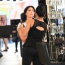 Brittny Gastineau gets her make up done in Beverly Hills, California on August 4, 2016 - 454 x 519