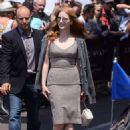 Jessica Chastain Leaves hotel Martinez in Cannes - 454 x 662