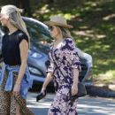 Dannii Minogue – Seen in a floral dress while out in Melbourne