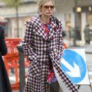 A Sad And Thin Laura Bailey Walking To Harvey Nichols