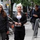 Pink is spotted strolling around the Meat Packing District in NYC
