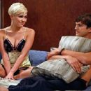 Miley Cyrus and Ashton Kutcher on Two and a Half Men