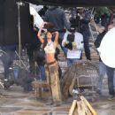 Lais Ribeiro Shooting a commercial for Victoria Secret's upcoming holiday catalog in Aspen - 454 x 471