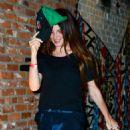 Lana Del Rey in Jeans at TAO in LA - 454 x 577