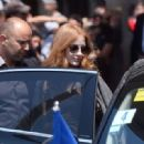 Jessica Chastain Leaves hotel Martinez in Cannes - 454 x 319