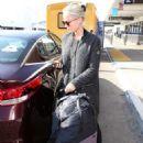Pom Klementieff at LAX International Airport in LA - 454 x 651