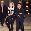 Rami Malek and Lucy Boynton are seen at 'Jimmy Kimmel Live' in Los Angeles, California - 454 x 577