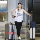 Ashley Johnson at LAX airport in Los Angeles - 454 x 510