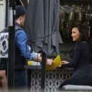 Naya Rivera is spotted filming a unknown show in West Hollywood, California on January 24, 2017 - 454 x 378