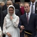 Prince William & Kate Middleton's Kuala Lumpur Mosque Visit