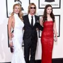 Model Susan Holmes-McKagan, recording artist Duff McKagan and Mae McKagan attend The 58th GRAMMY Awards at Staples Center on February 15, 2016 in Los Angeles, California.