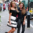 Michelle Heaton and Lizzie Cundy – Arrives at Secsy Fish Restaurant in London - 454 x 617