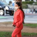 Olivia Munn – Spotted in her Tesla car in California