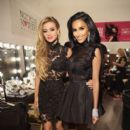 Lilly Ghalichi pose backstage during the Wantmylook by Lilly Ghalichi Style360 Spring 2015 fashion show at Metropolitan Pavilion on September 10, 2014 in New York City - 395 x 594