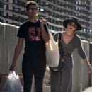 Sarah Hyland and Wells Adams – Shopping at Farmer's Market in Los Angeles - 454 x 632