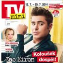 Zac Efron - TV Mini Magazine Cover [Czech Republic] (12 July 2014)