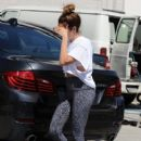 Ashley Tisdale: stops by a gym for a workout in West Hollywood