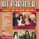 Tom Keifer, Jeff LaBar, Eric Brittingham, Fred Coury, Bret Michaels, Bobby Dall, C.C. Deville, Rikki Rockett - Hit Parader Magazine Cover [United States] (September 1987)