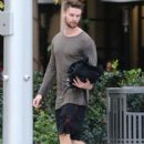 Patrick Schwarzenegger out for lunch with a friend at the Bouchon restaurant in Beverly Hills, California on December 17, 2014 - 403 x 594