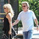 Goldie Hawn and Kurt Russell spotted at Lil Dom's in Silver Lake Saturday October 15, 2016