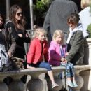 Rebecca Gayheart and her daughter Billie and Georgia are spotted out shopping at The Grove in Los Angeles, California on March 31, 2016 - 454 x 514