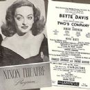 Two's Company Original 1952 Broadway Musical Starring Bette Davis - 454 x 349