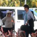 Ashley Tisdale and Christopher French – Head to their hotel in Cancun