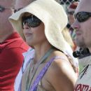 Ashley Judd Watches Her Husband Compete In The Firestone Indy 300 At The Homestead Miami Speedway, Homestead, October 10 2009