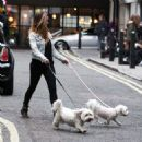 Jessica Jane Clement Walking Her Dogs In London