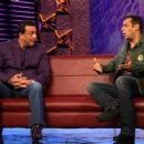 Salman Khan and Sanjay Dutt hosting Bigg Boss Season 5 2011 November 18