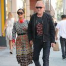 Salma Hayek and Francois-Henri Pinault are spotted out at a doctors office in Beverly Hills, California on August 29, 2016 - 439 x 600