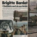 Laurent Vergez and Brigitte Bardot - Vecko Journalen Magazine Pictorial [Sweden] (4 October 1972) - 454 x 477