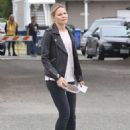 Jennifer Morrison on the set of 'Once Upon A Time' in Vancouver - 454 x 601