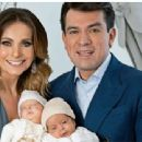 Jorge Salinas and Elizabeth Alvarez- Hola! Mexico Magazine Pictoria February 2016- Present their twins - 454 x 340