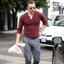 Chris Evans is seen leaving El Compadre Restaurant in Hollywood, California after enjoying lunch with a mystery woman on January 20, 2015