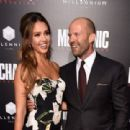 Jessica Alba & Jason Statham : Mechanic: Resurrection  Premiere (August 22, 2016) - 454 x 311